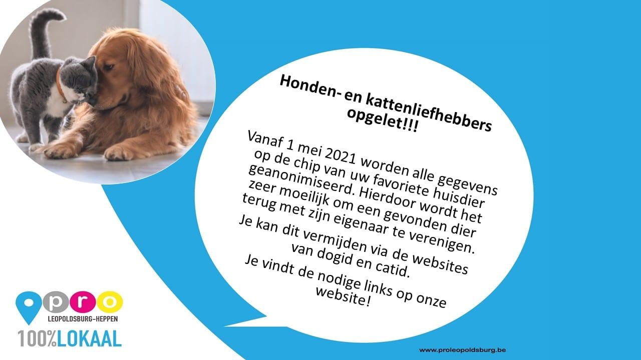 Honden- en kattenliefhebbers opgelet!!!